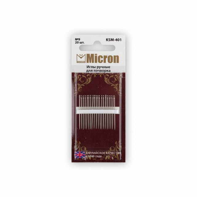 Micron Иглы  для пэчворка KSM-401 в блистере 20 шт.