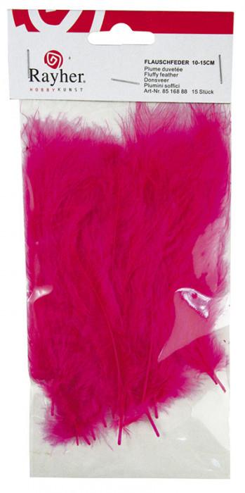 Rayher Перья пушистые, 10-15 см, 15 шт, цвет фуксия 85 168 88