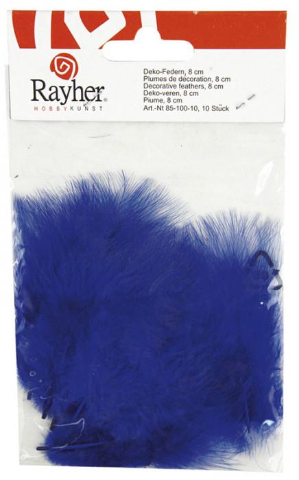Rayher Перья декоративные, 10 шт, 8 см, цвет  темно-синий 85 100 10