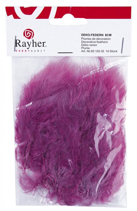 Rayher Перья декоративные, 10 шт, 8 см, цвет  сиреневый 85 100 35