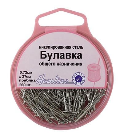 Hemline Булавки-гвоздики в пласт. контейнере арт.705