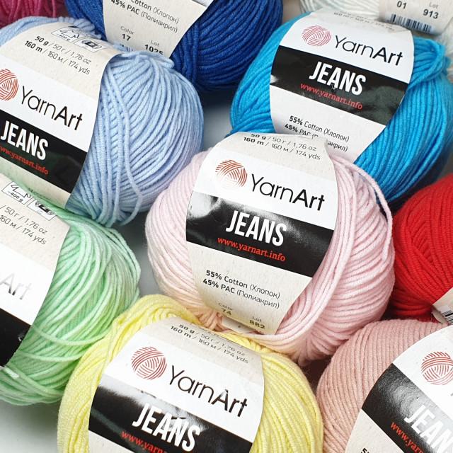 YarnArt пряжа Jeans 50г.160м 55% хлопок 45% полиакрил
