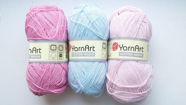 YarnArt пряжа Cotton neuve 50г.300м 50% хлопок 50%акрил