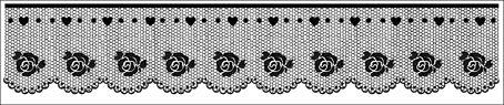 """Stamperia Штампик силиконовый WKT136 """"Кружево с розами"""""""