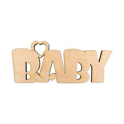 """Mr.Carving Заготовки для декорирования ПЦ-101 интерьерное слово """"baby""""  фанера  27х11см"""