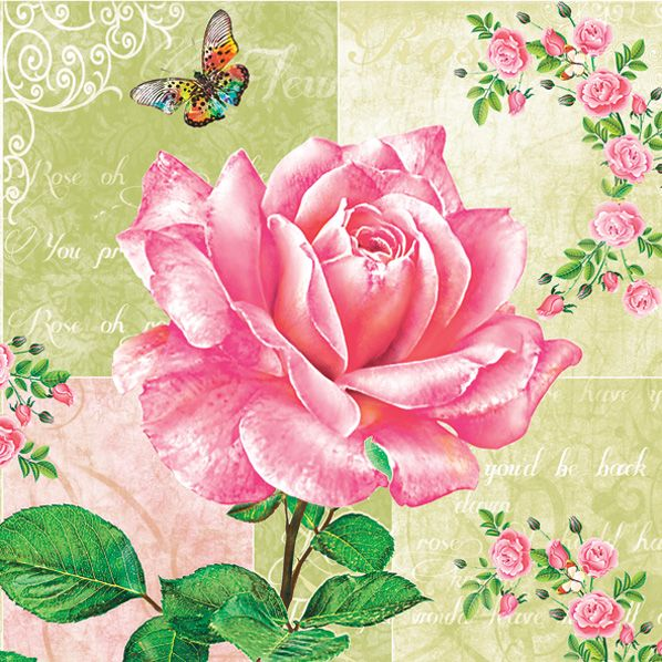 Maki Салфетка 3-х слойная SLOG 0271 01 роза