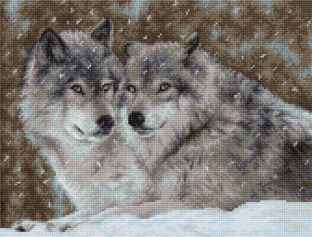 Luca-S Набор для вышивания В2291 Два волка