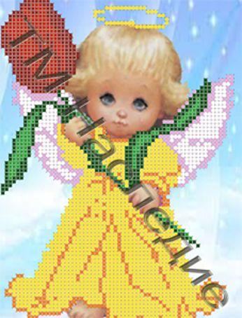 """Наследие Схема для вышивания бисером ДА-002 """"Ангелочек"""" 17 x 14 см"""