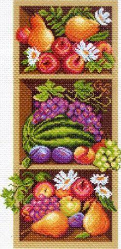 "МП канва с рисунком 1394 ""Полка с фруктами"""