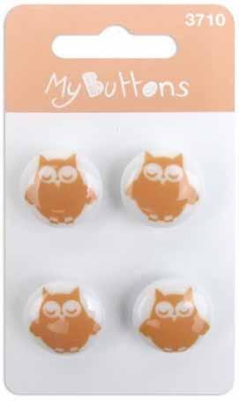"""Button fachion Пуговицы """"My Buttons"""" """"Melon & White Owls"""" 630003710"""