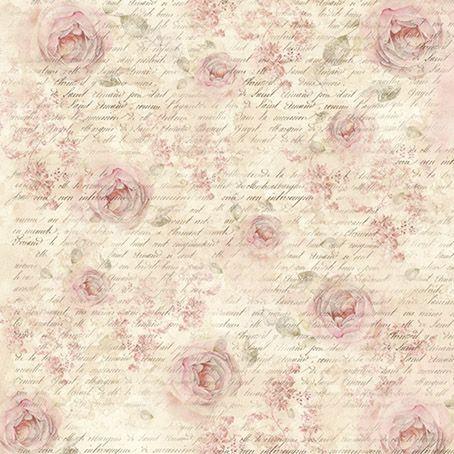 """Stamperia Салфетка рисовая DFT284 для декупажа , 1 лист, 50х50см """"Розы шебби и письма"""""""