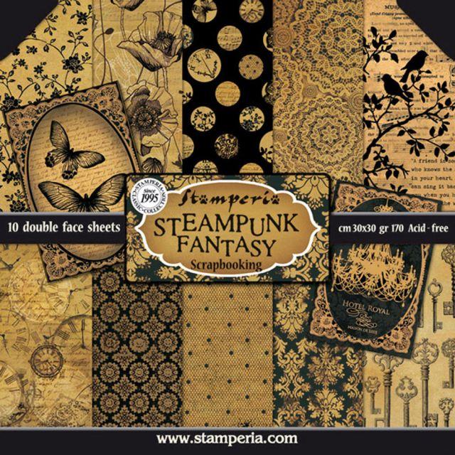 "Stamperia Бумага д/скрапбукинга SBBL06 ""Steampunk fantasy"", фантазии в стиле стимпанк, 1 лист, 30 х"