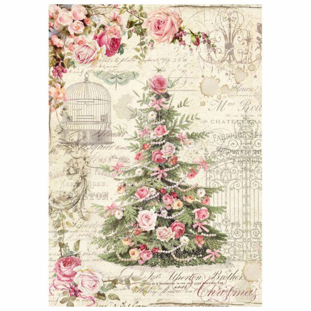 Stamperia Бумага рисовая мини - формат DFSA4250 Рождественская елка, 21 х 29, 7 см (A4), 28 г/м²