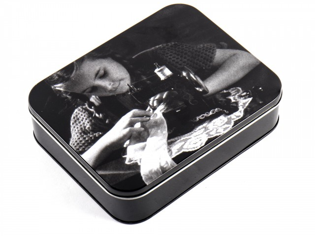 Металлическая коробочка для мелкой фурнитуры, 17,5 x 14 x 4,3 см +PT.V2.S