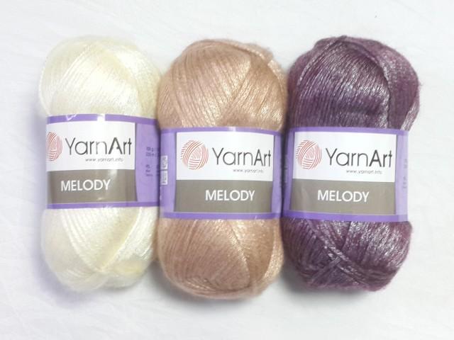 Yarn Art пряжа Melody 100гр. 230м. 9%шерсть, 21%акрил, 70%полиамид