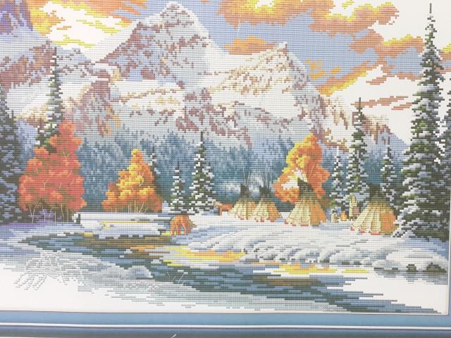 "NKF Набор для вышивания FA011 ""В горах зимой"" 62х46см"