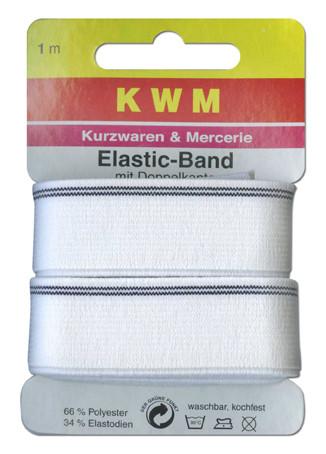 Резинка на блистере KWN-K, 20 мм, 1 м, цвет белый