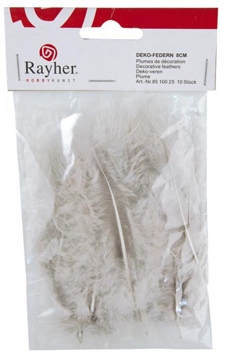 Rayher Перья декоративные, 5-10 см, 5 г, цвет серый  85 143 25
