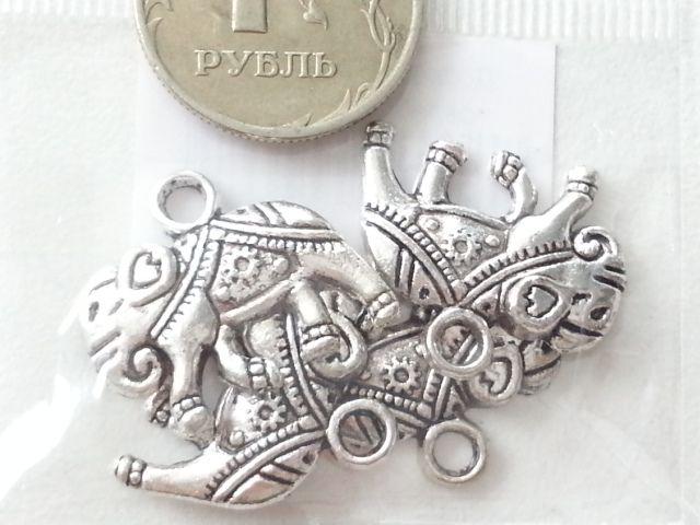 """Подвеска """"Слон"""" под серебро"""