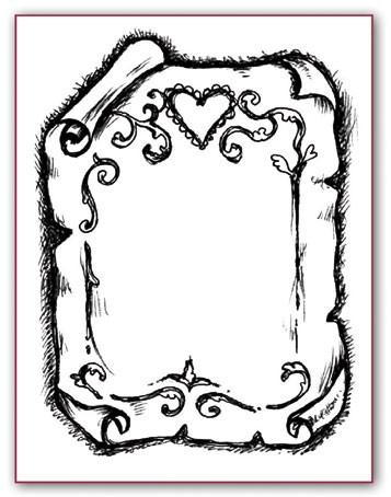 """Stamperia Штампик силиконовый WKT019 """"Пергамент"""""""